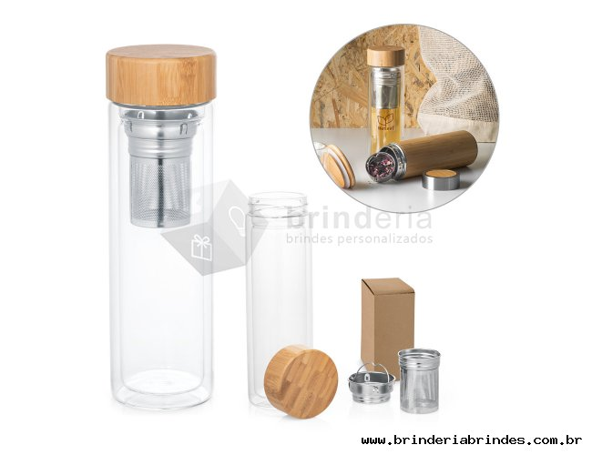 Garrafa com infusores 490ml - SQ41