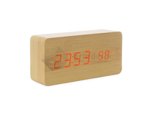 Relógio de Madeira com Display LED - TC21